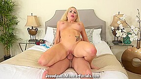 Curvaceous blonde woman bailey blaze her lover...