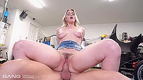 Delicious blonde babe kenzie madison is making a...