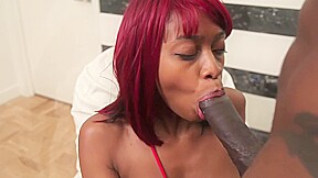Charming african with red hair and ample assets...