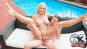 Katia's Poolside Seduction - Katia And Tony Rubino - 60PlusMilfs