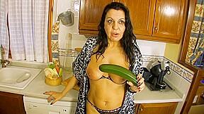 A Brunette Woman Enjoys Her Vegetables