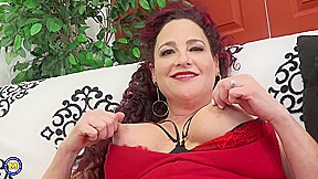 Amanda Ryder Is A Busty Brunette In Erotic Black Stockings Who Likes To Play With Sex Toys
