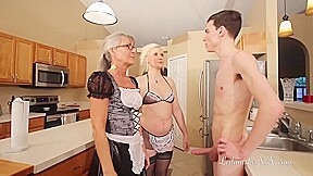 Mature Ladies Are Taking Turns Sucking Dicks While Their Younger Friend Is Enjoying It A Lot