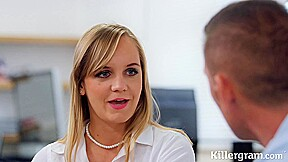 Sweet blonde secretary lucette likes to have boss...