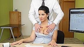 Loan4k big breasted hottie satisfies man to get...