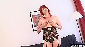 Mature Woman With Red Hair Patricie Is Sucking A Big Black Cock And Getting Banged