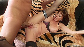 A Cougar Enjoys A Young Hard Dick Here