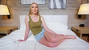 Pretty blonde fucking her best friend instead of...