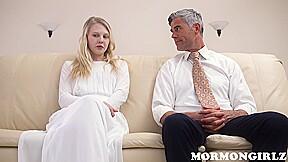 Mormon Slut Lily Enjoys This Mature Dick