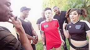 Keira Croft Keiras Interracial Dp Gangbang Tryout