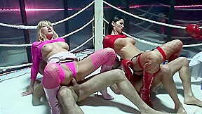Horny boxers are fucking slutty bitches after the...