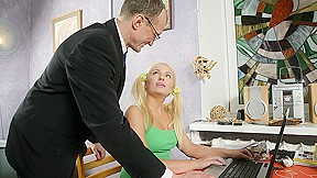 Trickyoldteacher tricked by to suck his cock him...