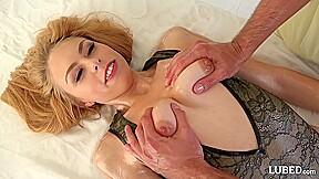 Lubed voyeur oily massage 4k...