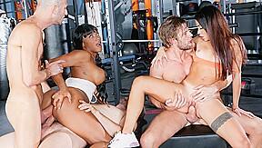 Martina Smeraldi & Kiki Minaj & Kristof Cale & Luca Ferrero & Vince Karter in Rocco's Fitness Sluts: DP Edition, Scene #02