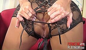 Faustine Lee on Red Chair - PornstarPlatinum