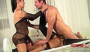 Faustine lee foxxy spencer in 3 way fetish...