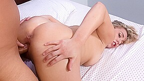 In bounces her big sweet cakes on cock...