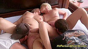 Two HOT MILFs Licking Pussy Start a Swingers Orgy