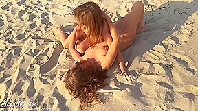 Naked Lesbian Girls having Public Beach Sex for everyone to see