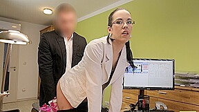 LOAN4K. Brunette with tattooed breasts becomes whore in loan office