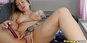 Cute Chick Plays with Her Tight Pussy