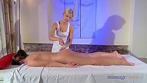 Horny Tess receives a professional massage from Lola