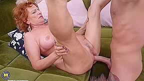 Cock loving granny with red hair sally g...