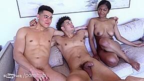 Latino gives his wazoo up to attractive mixed...
