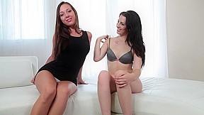 Lesbian threesome casting...