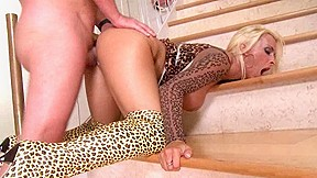 Big titted gets it stairs...