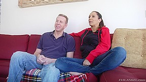 Milf and her husband talk about video...
