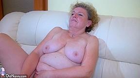 Oldnanny horny hairy old granny masturbate with...
