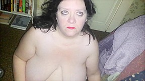 Real cum slut bbw wife taking multiple facials...