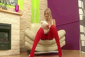Anal Blonde Legal Age Teenager In Red Tights