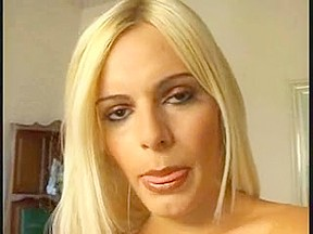 Blond Tranny Thays Screwed on a Sofa