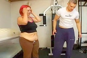 Sexy big beautiful woman saggy stomach acquires anal