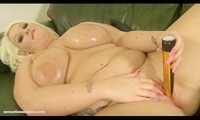 Smutty British Whore Sidney Oils Her Abdomen and Constricted Cum-Hole