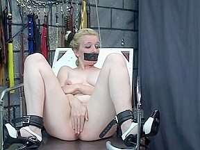 SADOMASOCHISM loving juvenile wench acquires her snatch clipped and filled with a hook