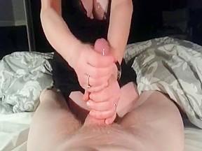 Wife handjob pov...