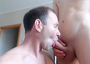 Twink takes a cumshot on his face...