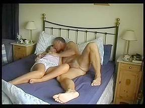 Aged pair steady webcam...
