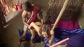 Japanese girl amazed black dick in African tribe