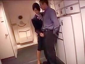 Japanese stewardess handjob part 2...