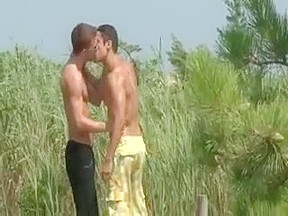 Two sexy chaps giving ass drilling butt and...