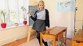 cute teacher teasing body just for you
