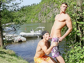 Two Dudes Have Anal Sex On The Boat - OutInPublic
