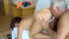 INTERNAL CUM WITH WHITE PANTY