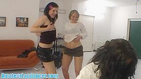 Striptease by three horny chicks...
