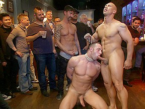 Italian bodybuilder is used and humiliated at a...