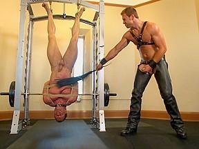 Derek pain endures the torturous bdsm workout...